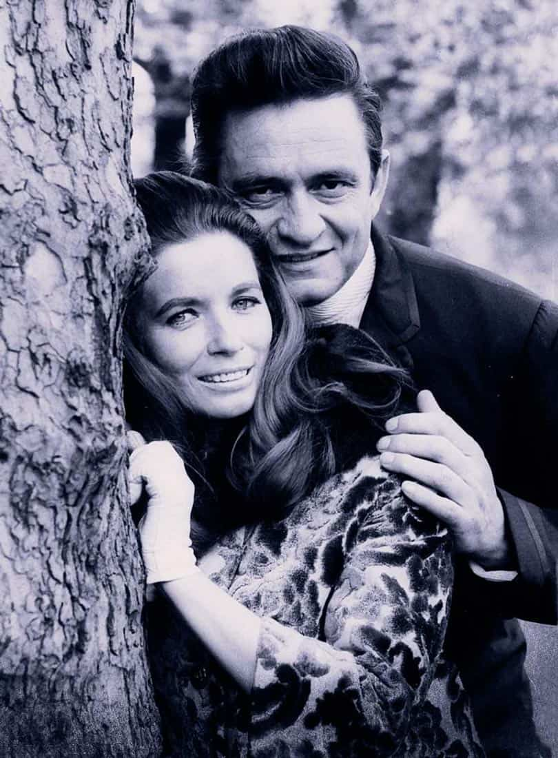 Johnny Cash con la moglie June